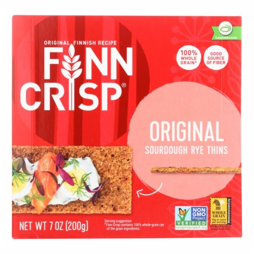 Finn Crisp Original - Whole Grain - Case of 9 - 7 oz. Perspective: front