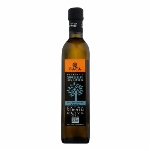 Gaea Olive Oil - Extra Virgin - 17 oz - case of 6 Perspective: front