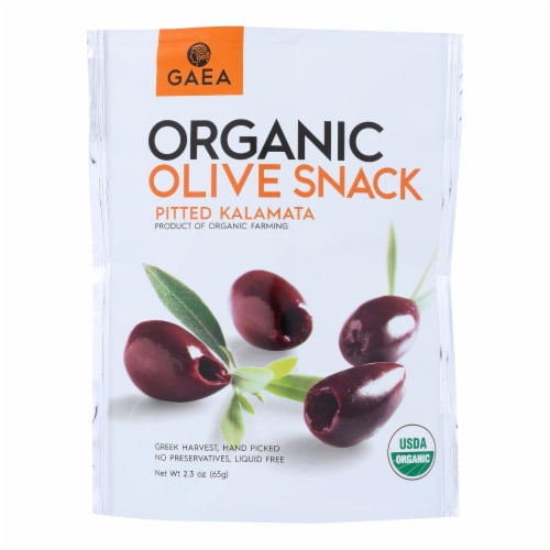 Gaea Organic Olive Snack - Kalamata - Case of 8 - 2.3 oz Perspective: front