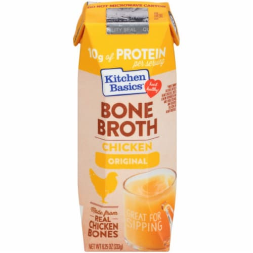 Kitchen Basics Original Chicken Bone Broth Perspective: front