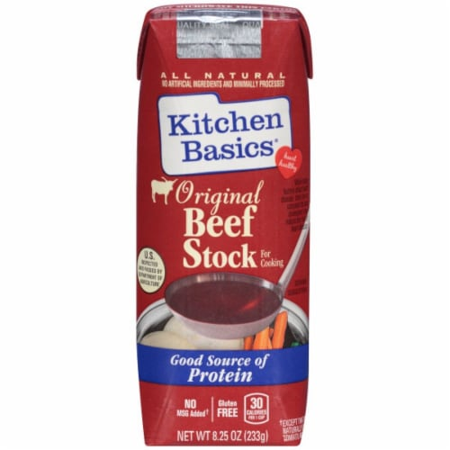 Kitchen Basics Original Beef Stock (12 Pack) Perspective: front