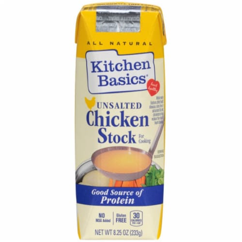 Kitchen Basics Unsalted Chicken Stock Perspective: front
