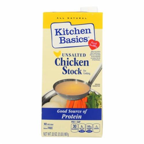 Kitchen Basics Unsalted Chicken Stock  - 1 Each - 32 FZ Perspective: front