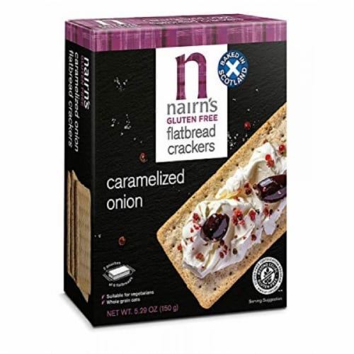 Nairn's Gluten Free Flatbread Caramelized Onion, 5.29 oz (Pack of 6) Perspective: front