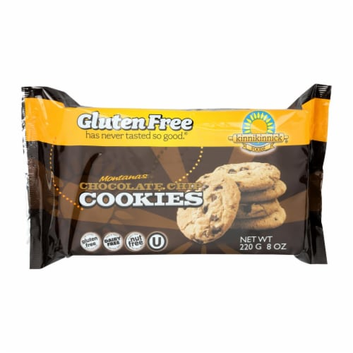 Kinnikinnick Cookies - Chocolate Chip - Case of 6 - 8 oz. Perspective: front