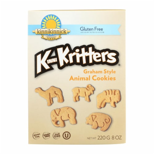 Kinnikinnick Kinnikritter Animal Cookies - Case of 6 - 8 oz. Perspective: front