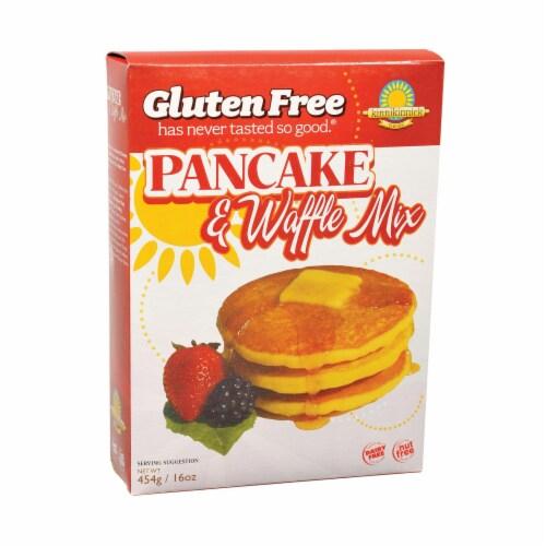 Kinnikinnick Pancake & Waffle Mix -Gluten Free - Case of 6 - 16 oz Perspective: front