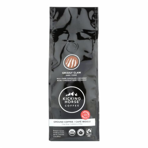 Kicking Horse Coffee - Organic - Ground - Grizzly Claw - Dark Roast - 10 oz - case of 6 Perspective: front