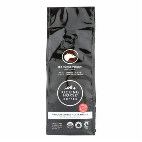 Kicking Horse Coffee - Organic - Ground - 454 Horse Power - Dark Roast - 10 oz - case of 6 Perspective: front