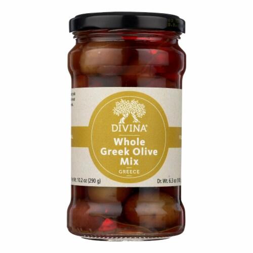 Divina - Greek Olive Mix - Case of 6 - 6.36 oz. Perspective: front