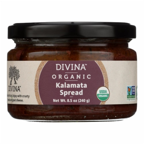 Divina - Organic Kalamata Olive Spread - Case of 6 - 8.5 oz. Perspective: front