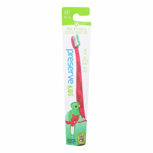 Preserve Kids' Toothbrush- 6 Pack - Assorted Colors Perspective: front