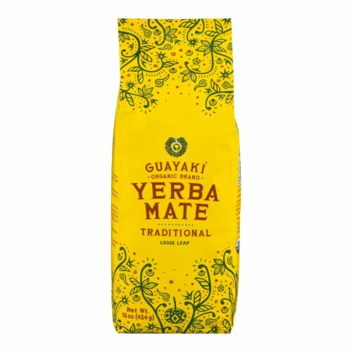 Guayaki Gluten Free Traditional Mate, 16 OZ (Pack of 6) Perspective: front