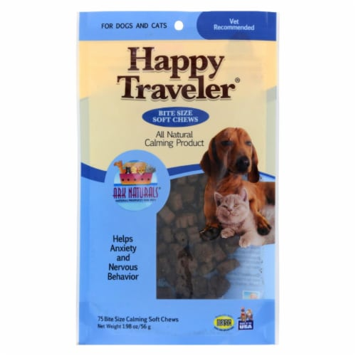 Ark Naturals Happy Traveler for Dogs and Cats - 75 Soft Chews Perspective: front