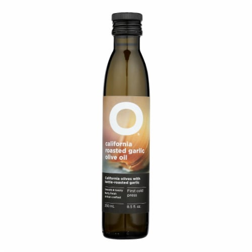O Olive Oil Roasted Garlic Olive Oil  - Case of 6 - 8.5 FZ Perspective: front