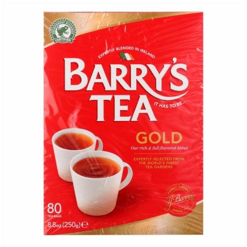 Barry's Tea - Irish Tea - Gold Blend - Case of 6 - 80 Bags Perspective: front