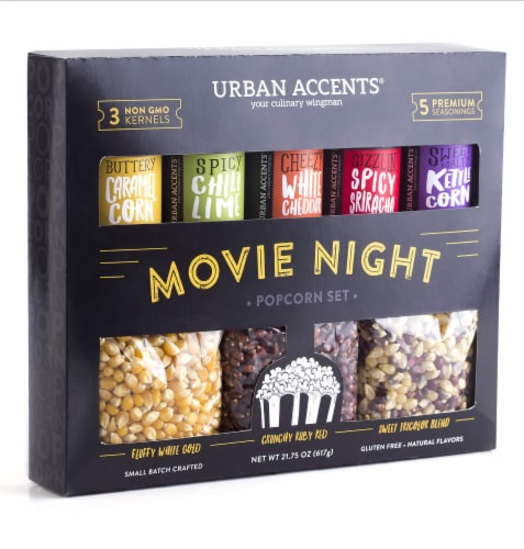 Urban Accents Popcorn Gift Set PopCorn Kernel &  Seasonings , (Pack of 6) Perspective: front