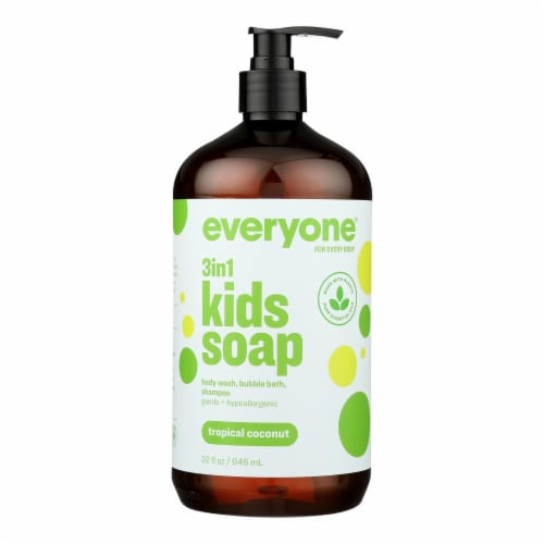 EO Products - Everyone Soap for Kids - Tropical Coconut Twist - 32 oz Perspective: front