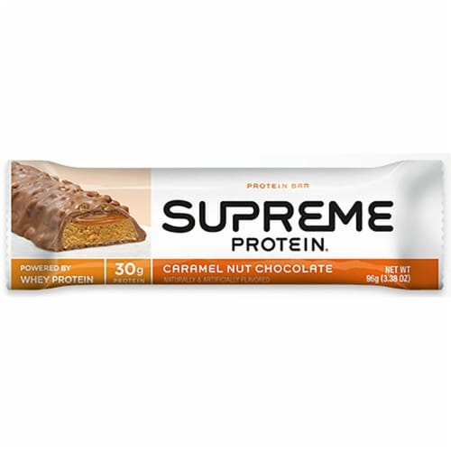 Supreme Protein Caramel Nut Cluster, 12 count per pack -- 6 per case. Perspective: front