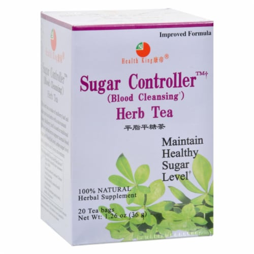 Health King Sugar Controller Blood Cleansing Herb Tea - 20 Tea Bags Perspective: front