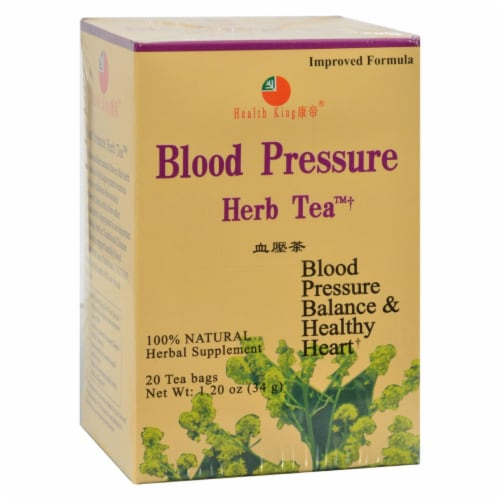 Health King Blood Pressure Herb Tea - 20 Tea Bags Perspective: front
