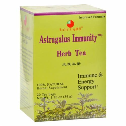 Health King Astragalus Immunity Herb Tea - 20 Tea Bags Perspective: front