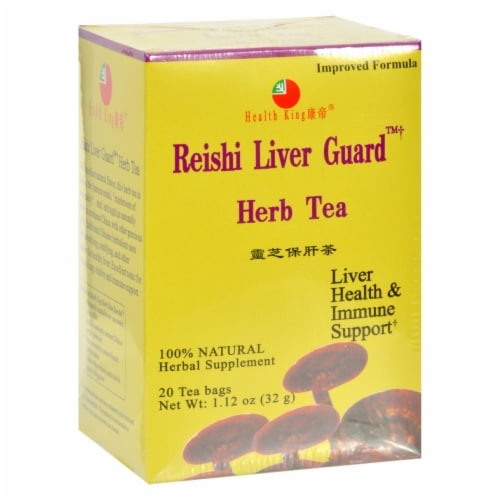 Health King Reishi Liver Guard Herb Tea - 20 Tea Bags Perspective: front