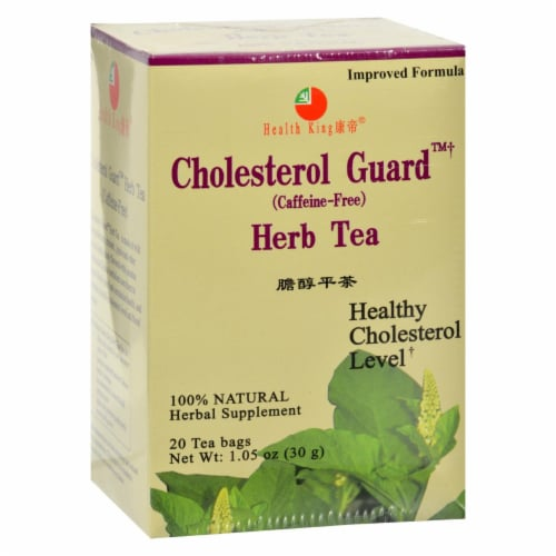 Health King Cholesterol Guard Herb Tea - 20 Tea Bags Perspective: front