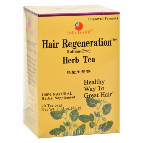 Health King Hair Regeneration Herb Tea - 20 Tea Bags Perspective: front