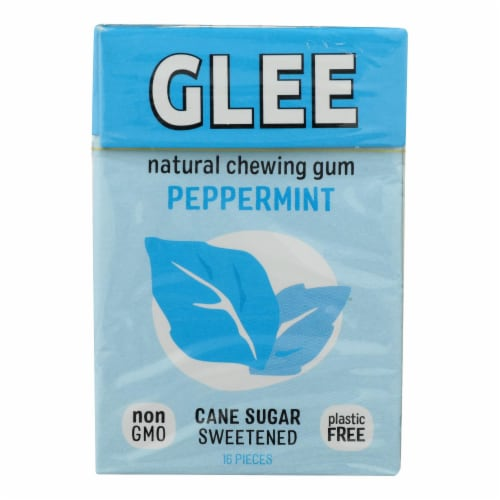 Glee Gum Chewing Gum - Peppermint - Case Of 12 - 16 Pieces Perspective: front