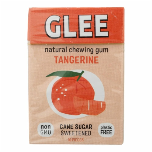 Glee Gum Chewing Gum - Tangerine - Case Of 12 - 16 Pieces Perspective: front