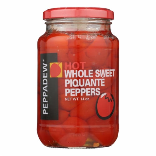 Peppadew Hot Whole Sweet Piquante Peppers  - Case of 12 - 14 OZ Perspective: front