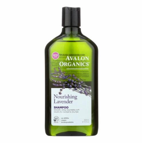 Avalon Organics Nourishing Shampoo Lavender - 11 fl oz Perspective: front