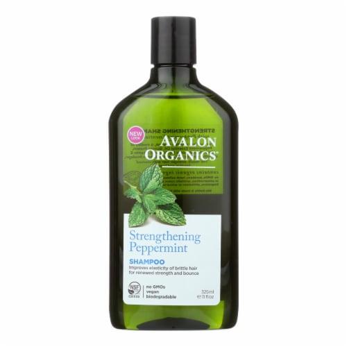 Avalon Organics Revitalizing Shampoo Peppermint Botanicals - 11 fl oz Perspective: front