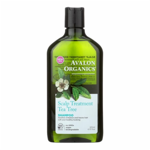 Avalon Organics Scalp Treatment Tea Tree Shampoo - 11 fl oz Perspective: front