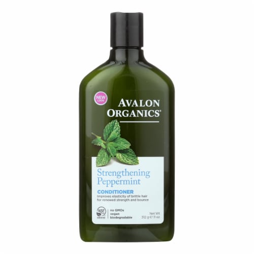 Avalon Organics Revitalizing Conditioner with Babassu Oil Peppermint - 11 fl oz Perspective: front