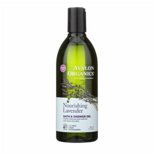 Avalon Organics Bath and Shower Gel Lavender - 12 fl oz Perspective: front