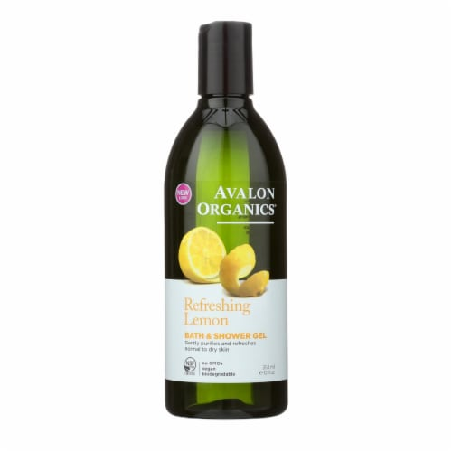 Avalon Organics Bath and Shower Gel Lemon - 12 fl oz Perspective: front