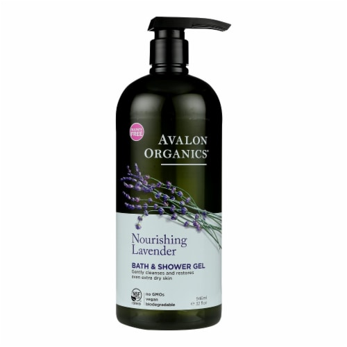 Avalon Organics Bath and Shower Gel Lavender - 32 fl oz Perspective: front