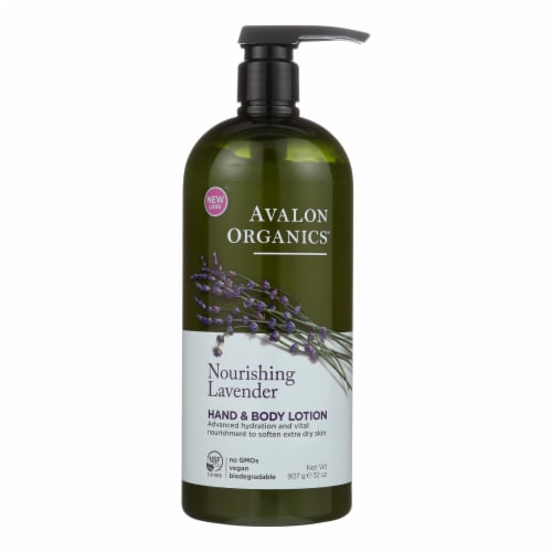 Avalon Organics Hand and Body Lotion Lavender - 32 fl oz Perspective: front