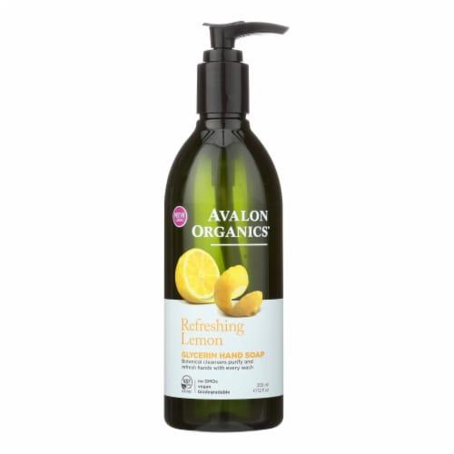Avalon Organics Glycerin Liquid Hand Soap Lemon - 12 fl oz Perspective: front