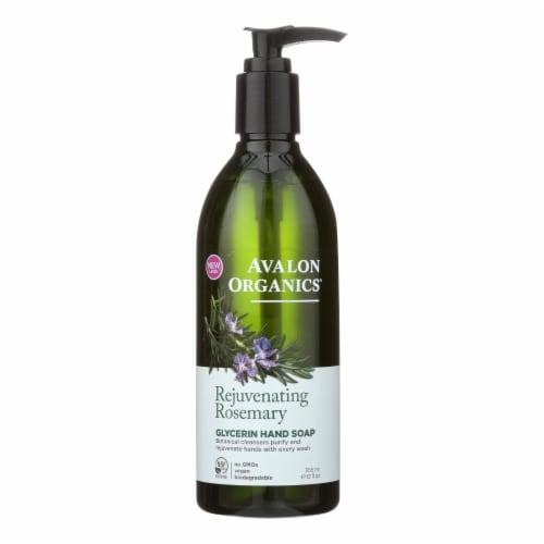 Avalon Organics Glycerin Liquid Hand Soap Rosemary - 12 fl oz Perspective: front