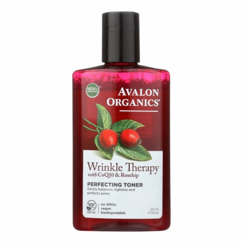 Avalon Organics Wrinkle Therapy with CoQ10 and Rosehip Perfecting Toner - 8 fl oz Perspective: front