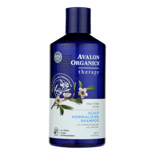 Avalon Organics Scalp Normalizing Shampoo Tea Tree Mint Therapy - 14 fl oz Perspective: front