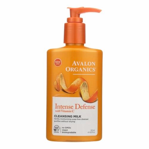 Avalon Organics Hydrating Cleansing Milk Vitamin C - 8.5 fl oz Perspective: front