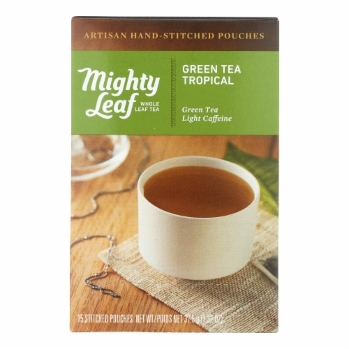 Mighty Leaf Tea - Tea Green Tropical Stched - Case of 6 - 15 BAG Perspective: front