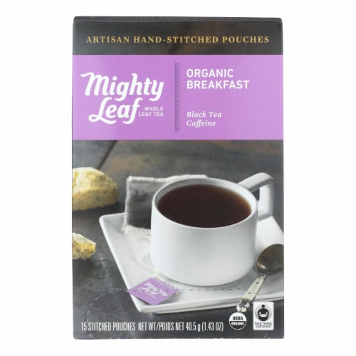 Mighty Leaf Tea - Tea Breakfast Stched - Case of 6 - 15 BAG Perspective: front