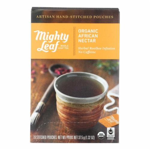 Mighty Leaf Tea - Tea Afrcn Nctr Stched - Case of 6 - 15 BAG Perspective: front