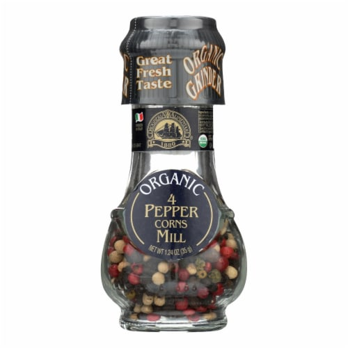 Drogheria and Alimentari Spice Mill - Organic 4 Seasons Peppercorns - 1.24 oz - Case of 6 Perspective: front