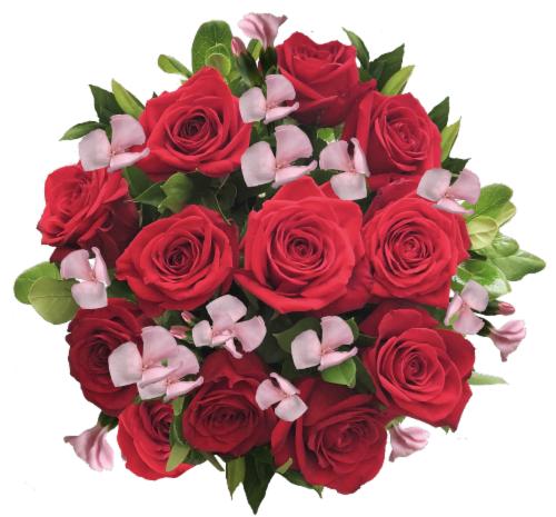 Exquisite Red Rose Bouquet (Approximate delivery is 1-3 Days) Perspective: front